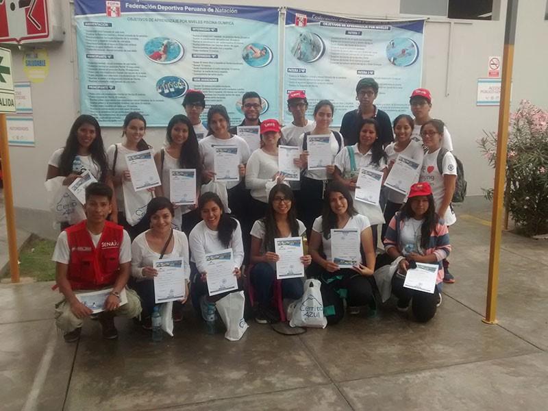 Senaju participó en el VI Torneo Natación de Cerrito Azul