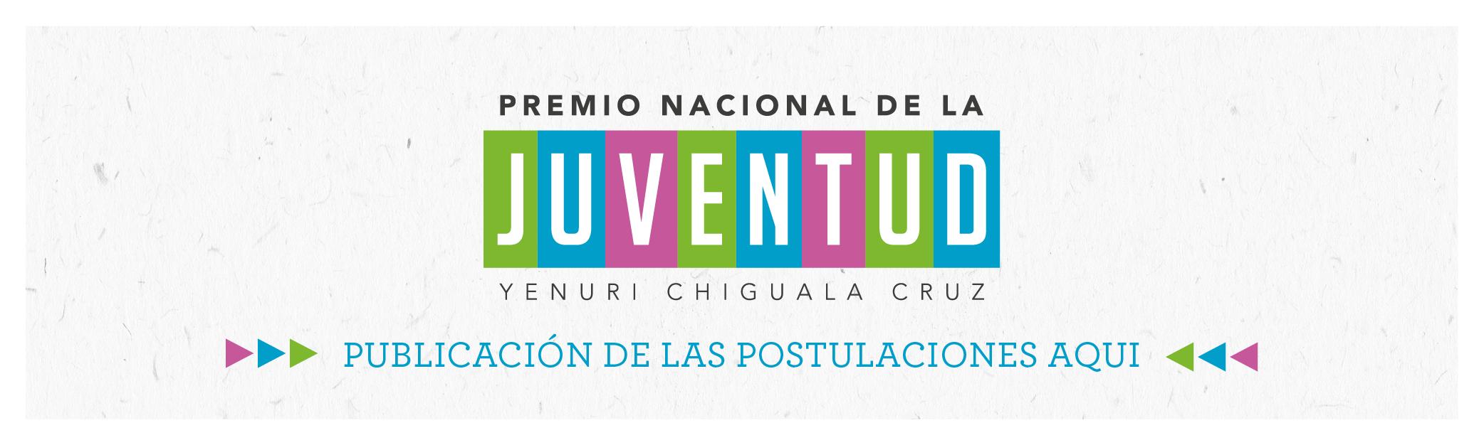 Postulaciones Premio Nacional de la Juventud