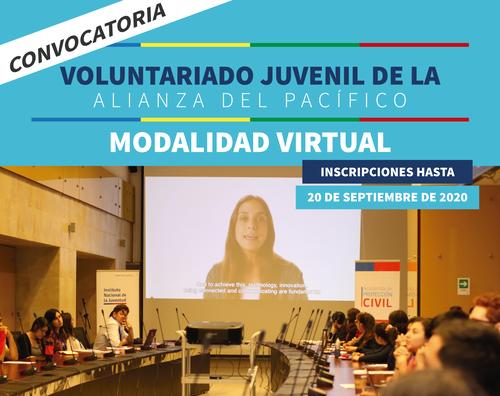 Servicios de Juventud de la Alianza del Pacífico lanzan convocatoria a curso virtual de voluntariado