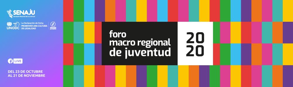 FOROS MACRO REGIONALES DE JUVENTUD 2020
