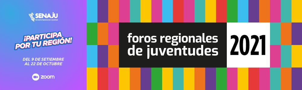 Foros Regionales de Juventudes 2021